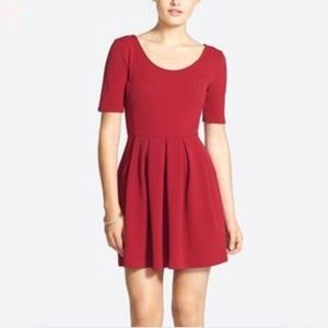 Lush Textured Knit Skater Dress